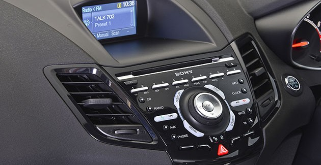 Ford Fiesta ST Console